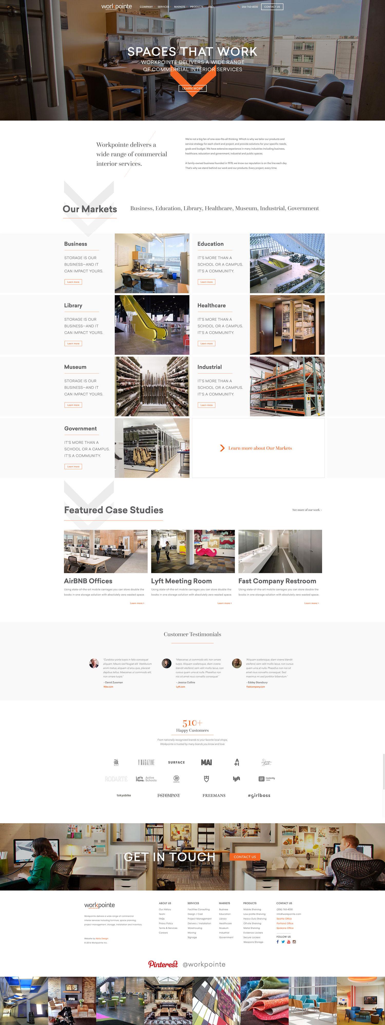 Web Design | Workpointe - Homepage | V2 (Desktop View)