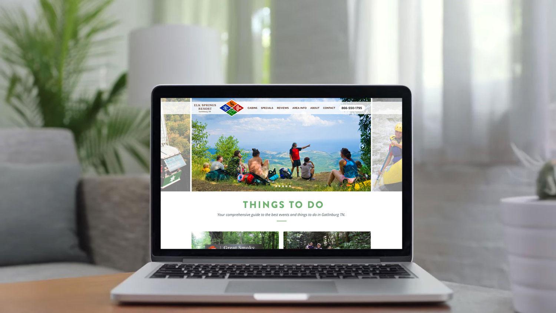 Web Design | Elk Springs Resort - Things To Do MacBook Mockup