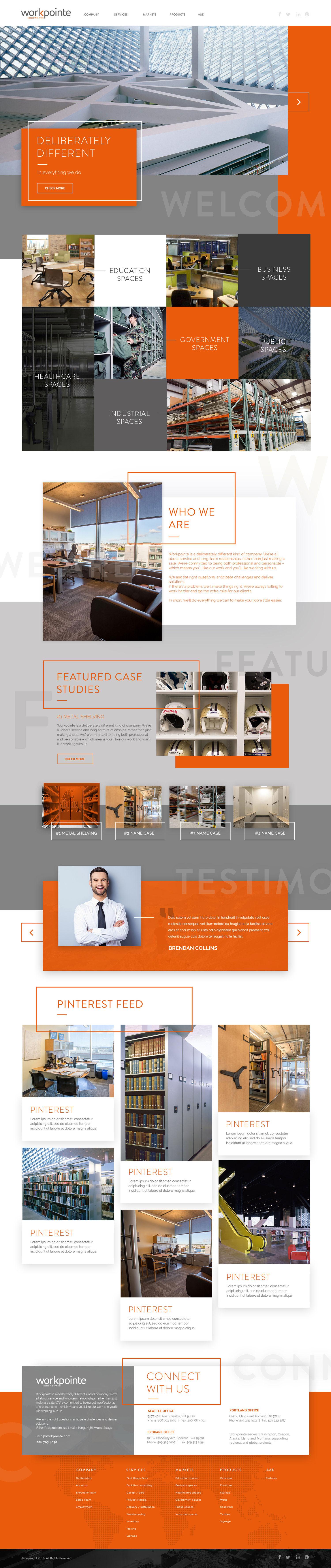 Web Design | Workpointe - Homepage | V3 (Desktop View)