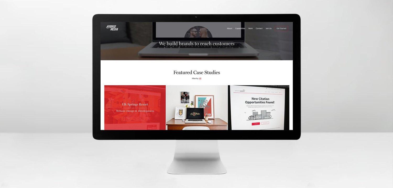 Web Design | Hybrid Media Desktop iMac Mockup