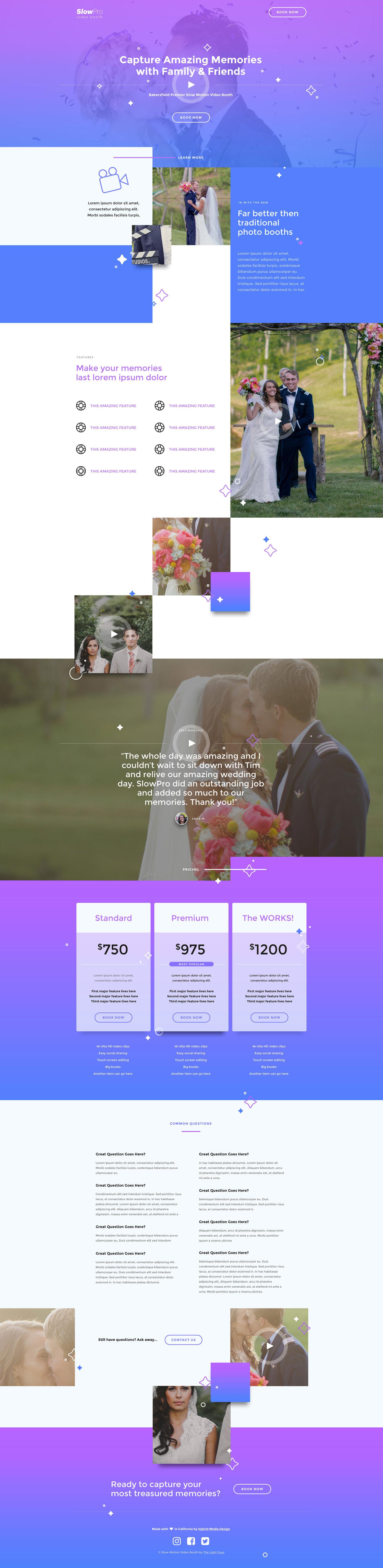 Web Design | SlowPro (Desktop View)
