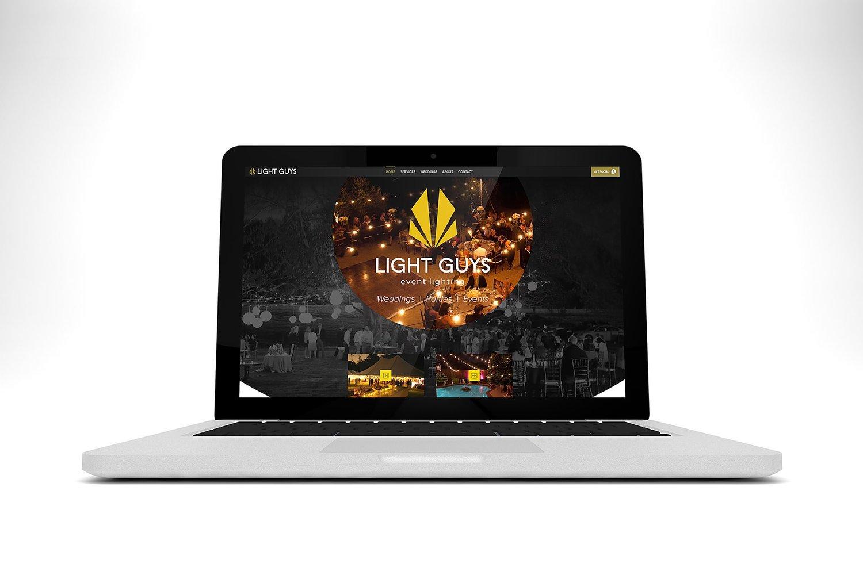 Web Design | Light Guys - MacBook Mockup