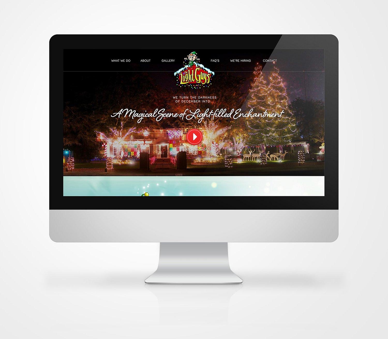 Web Design | Light Guys - iMac Mockup