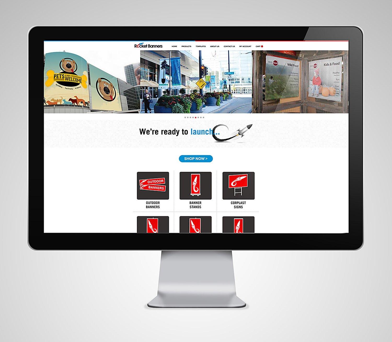 Web Design | Rocket Banners - iMac Mockup
