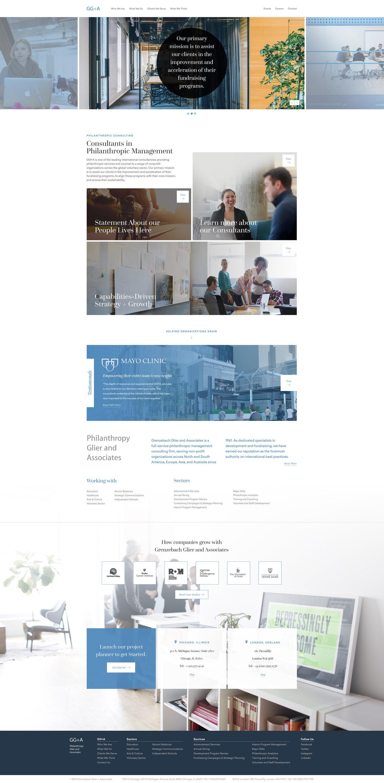 Web Design | GG+A - Homepage (Desktop View)