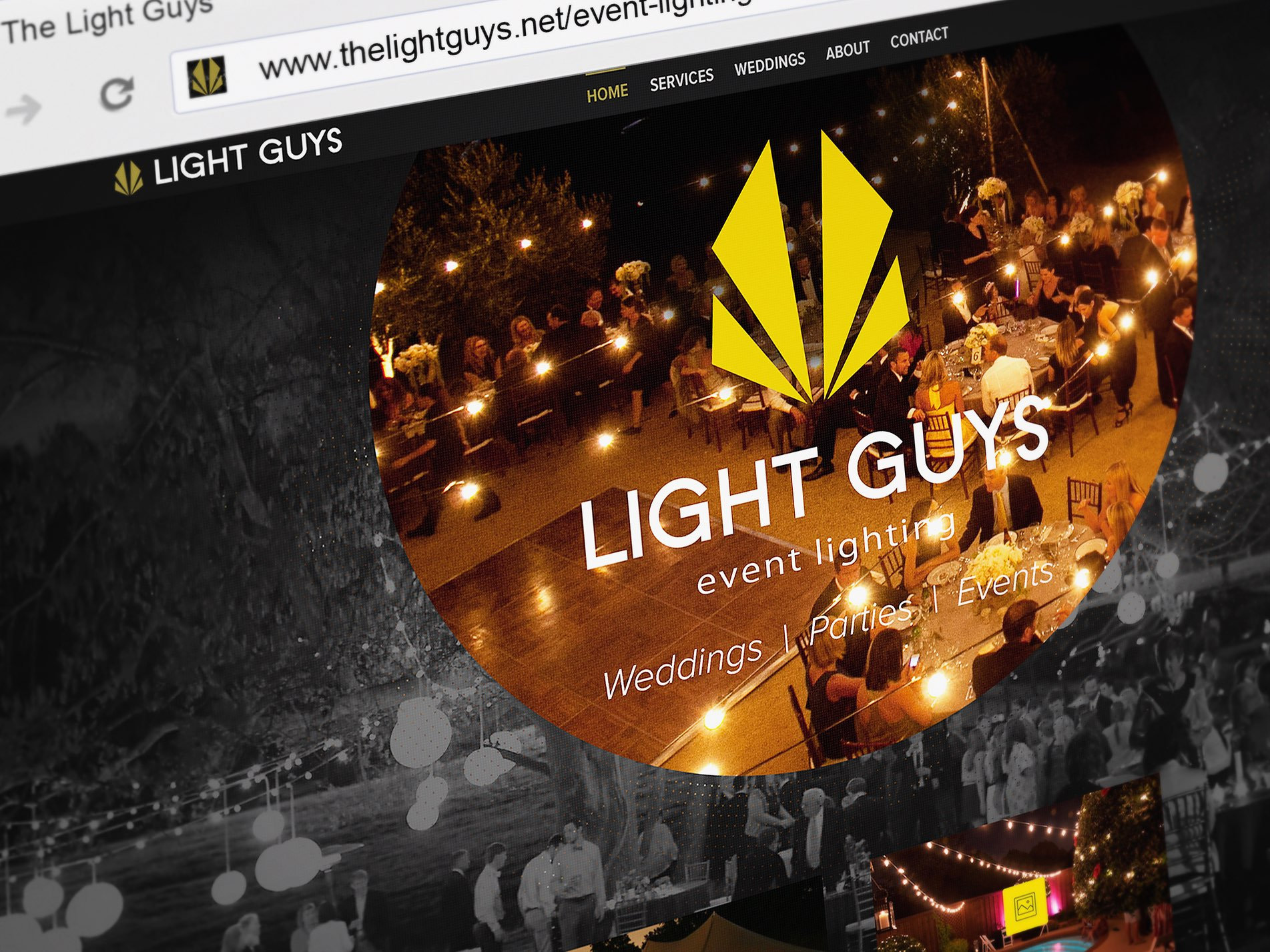 Web Design | Light Guys Event Lighting Landing Page