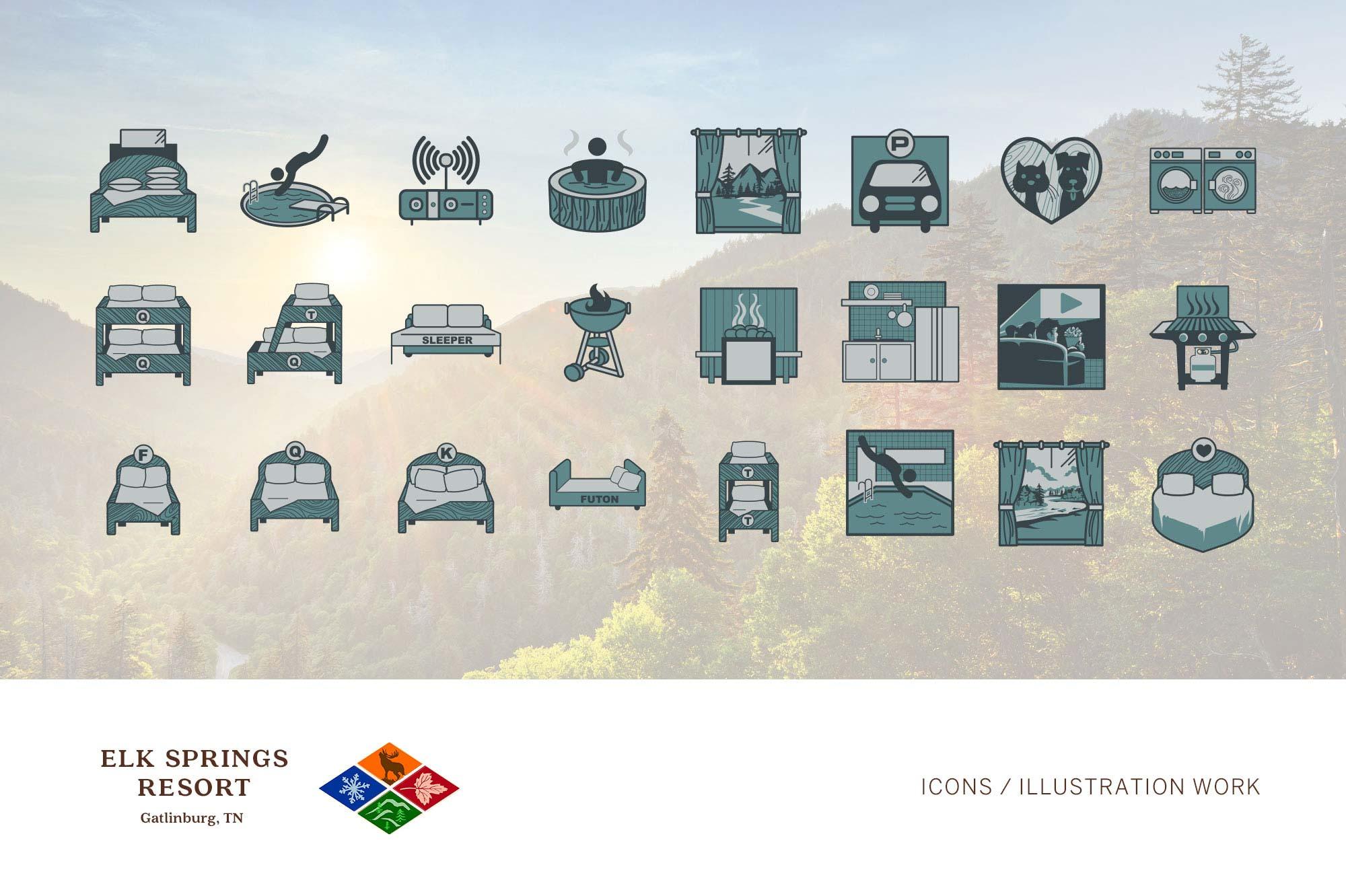 Logo + Branding | Elk Springs Resort Icons