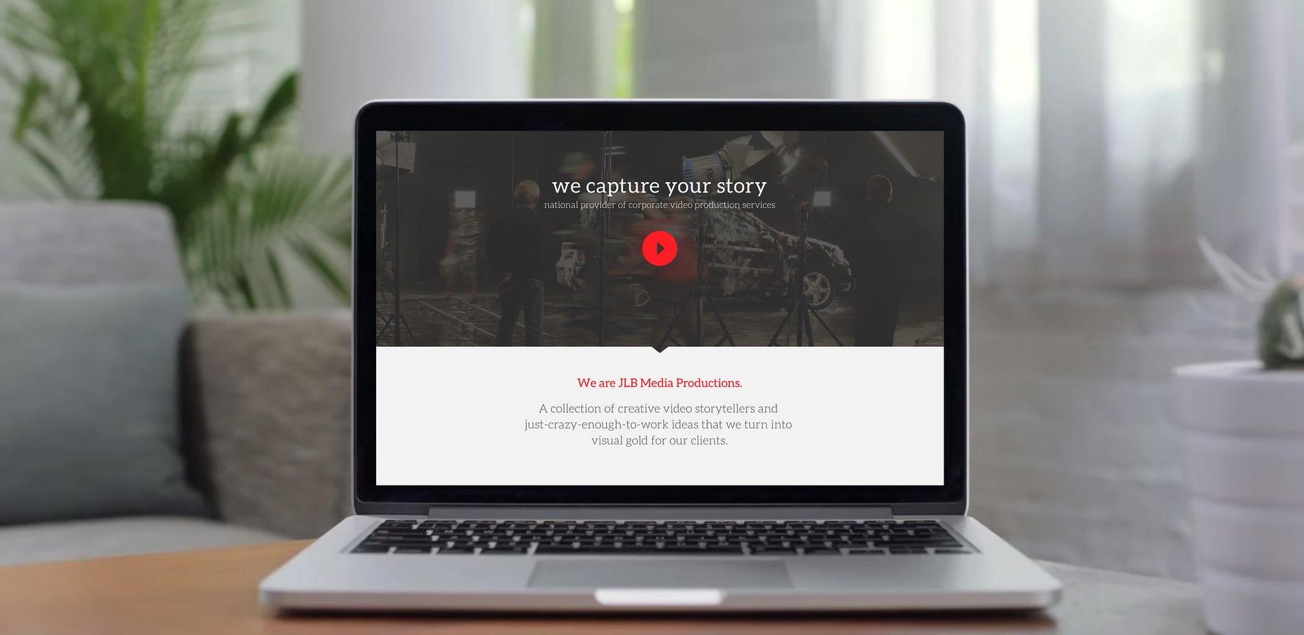 Web Design | JLB Media Productions Macbook Mockup