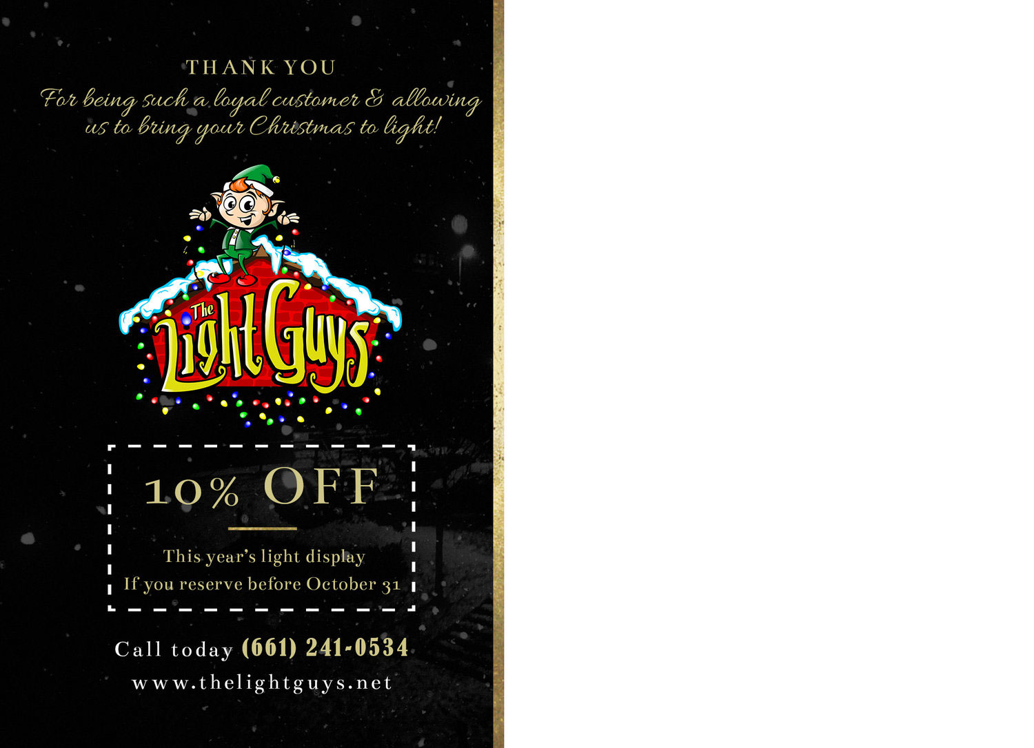 Print Design | Light Guys - Holiday Mailer (back)