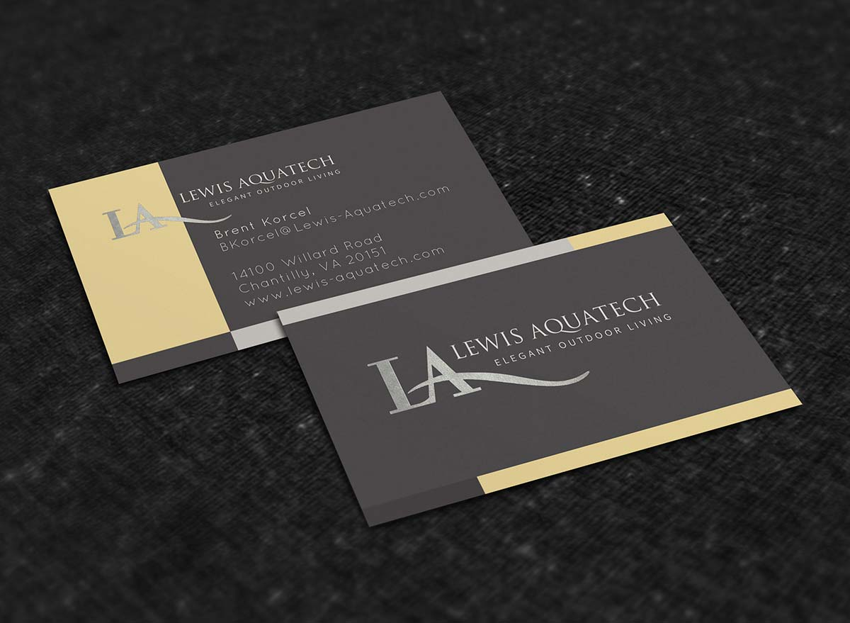 Print Design | Lewis Aquatech - Business Cards