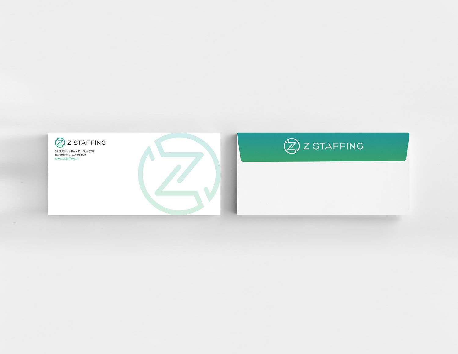 Print Design | Z Staffing Envelope