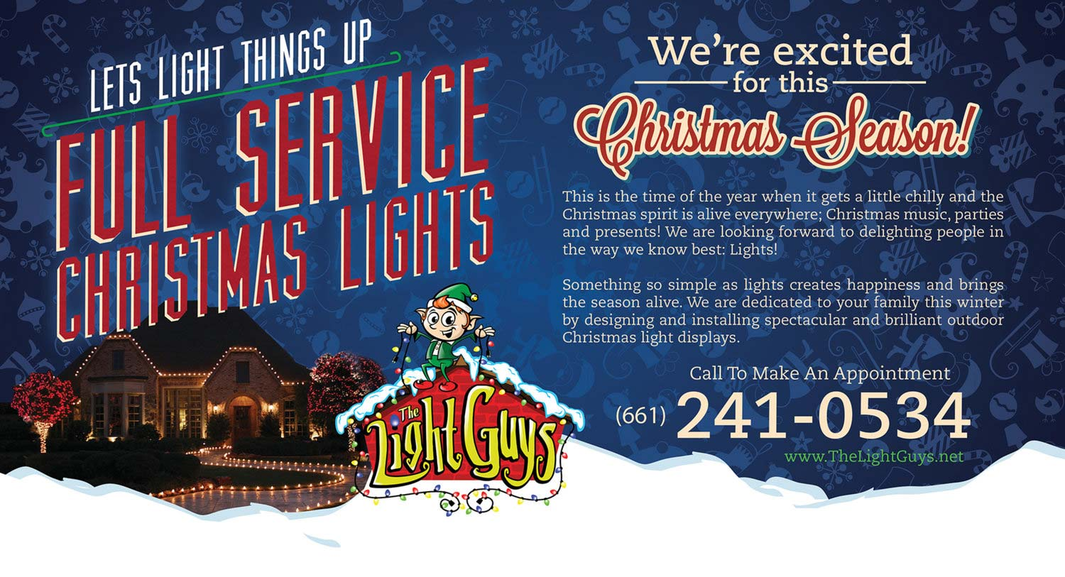 Print Design | Light Guys - Full Service Christmas Lights Mailer