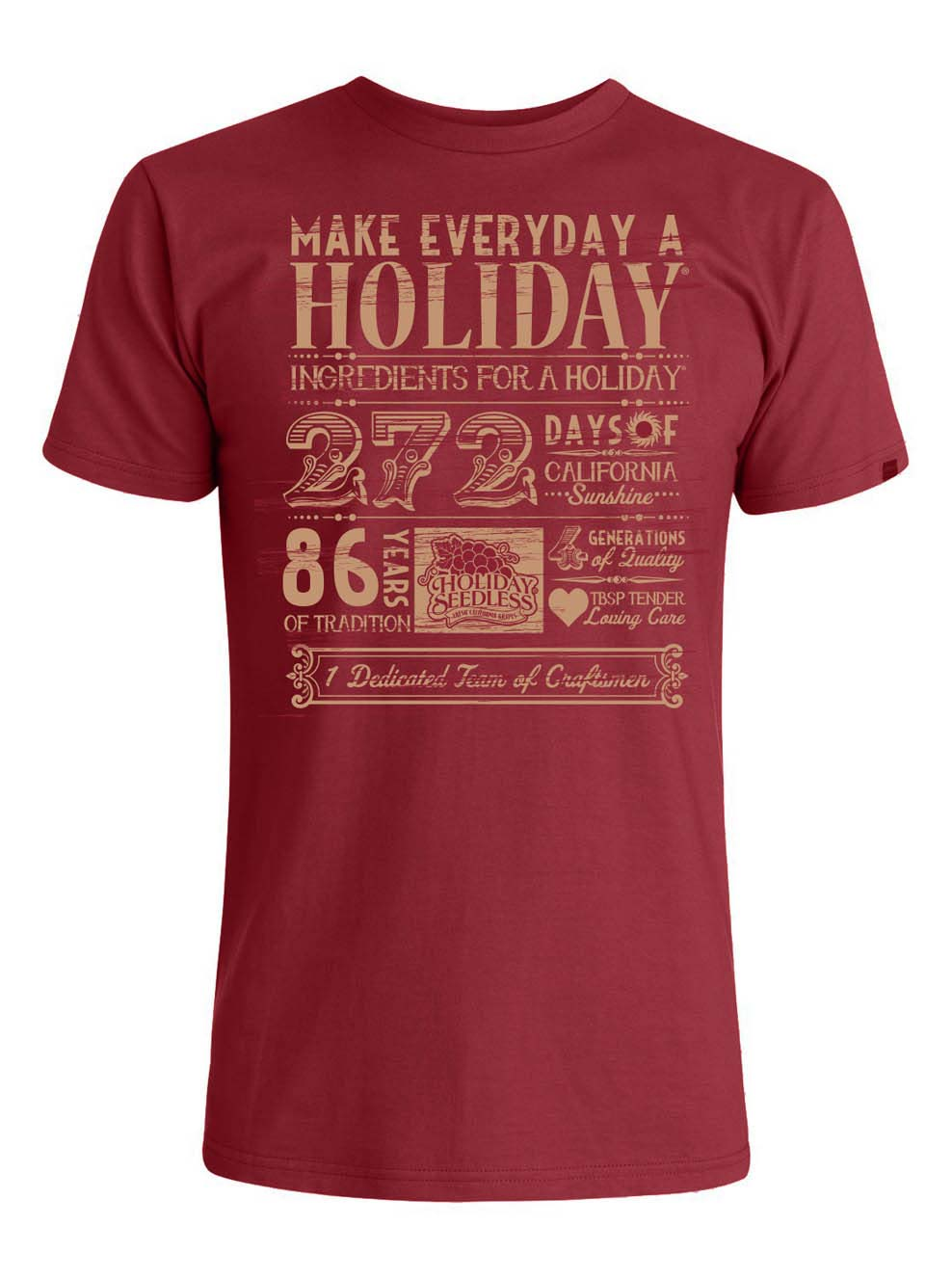 Apparel Design | Holiday Seedless T-Shirt