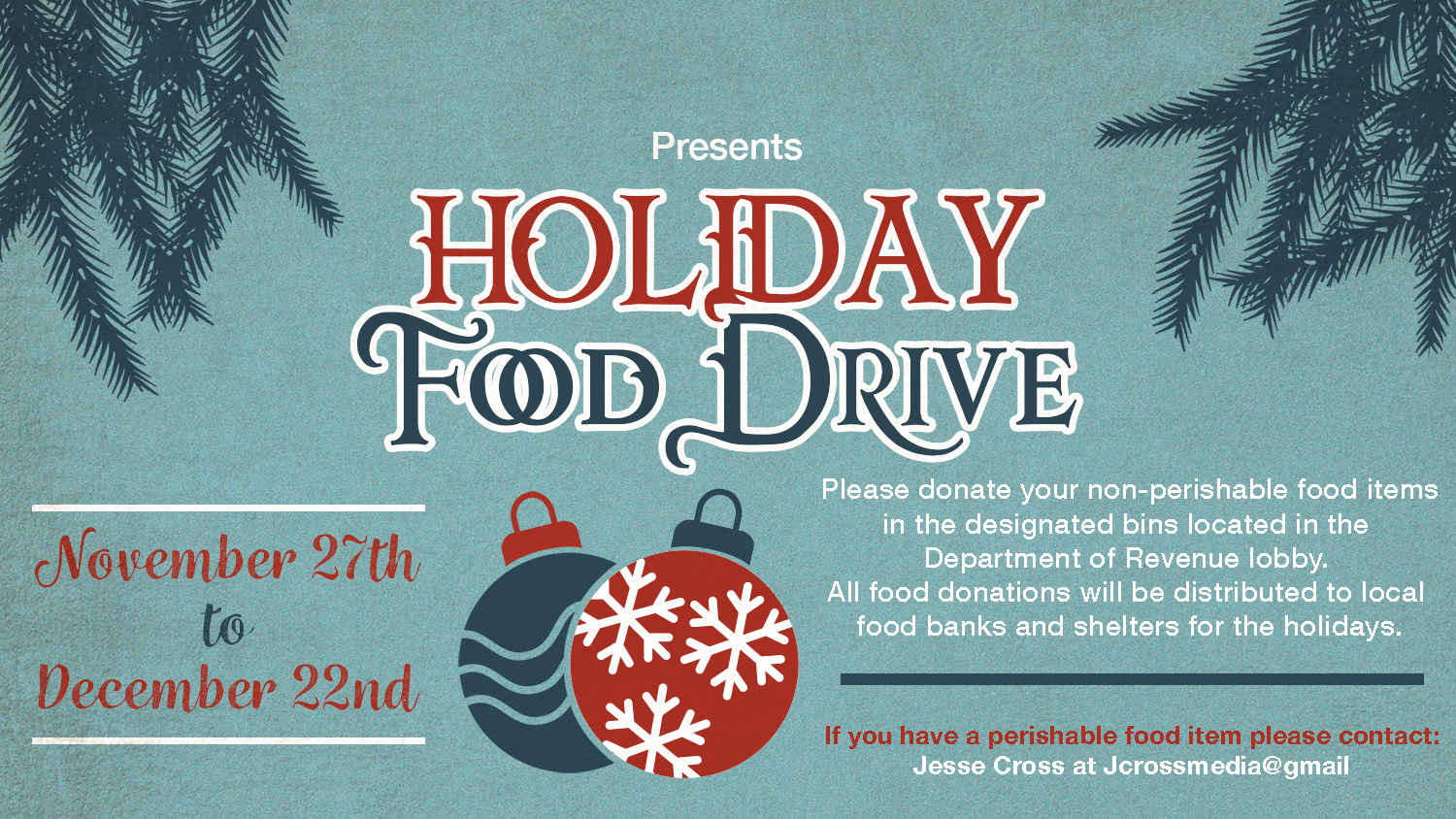 Holiday Food Drive 2017.