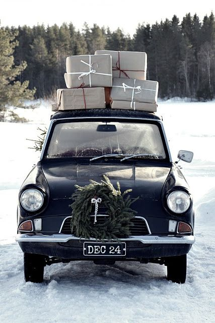 put a wreath on - everything, even the car.