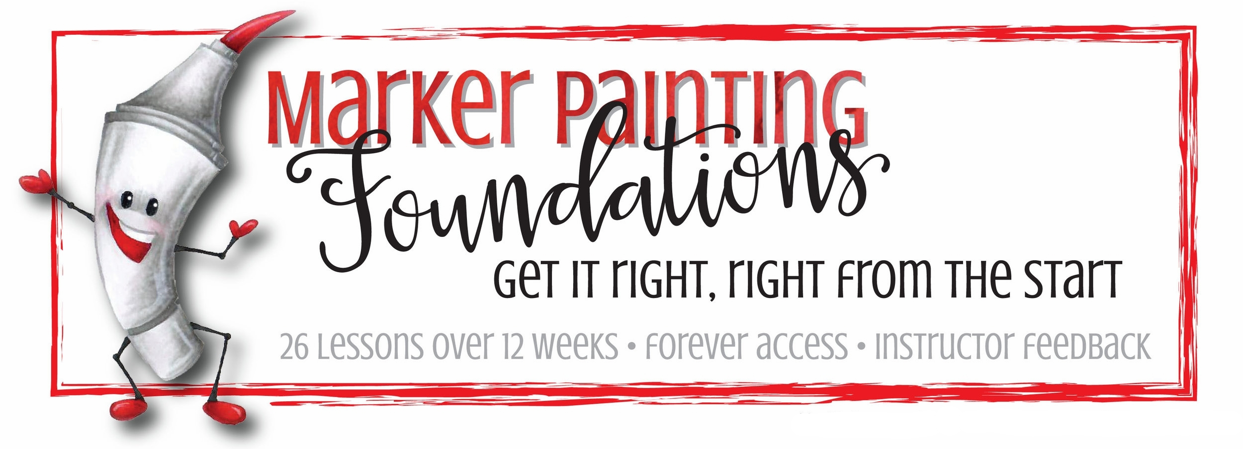 Marker Painting Foundations- Begin at the Beginning, learn to color with Copic Markers- a 12 week course | Marker Painting.com