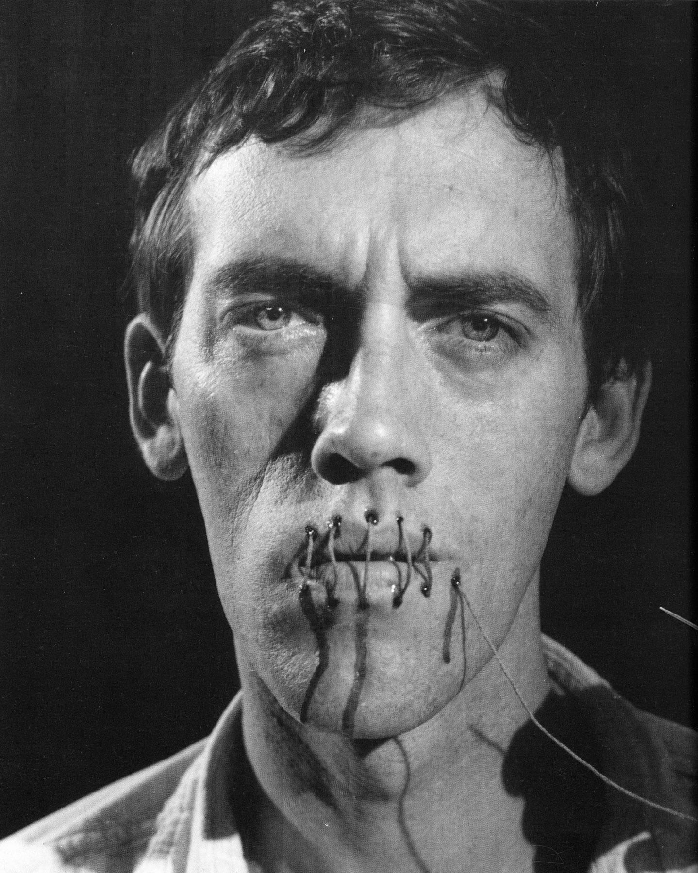 Untitled , 1990  David Wojnarowicz, (in collaboration with Phil Zwickler and Rosa von Praunheim), still from the film  Silence = Death,  Courtesy of the estate of David Wojnarowicz and P.P.O.W., New York