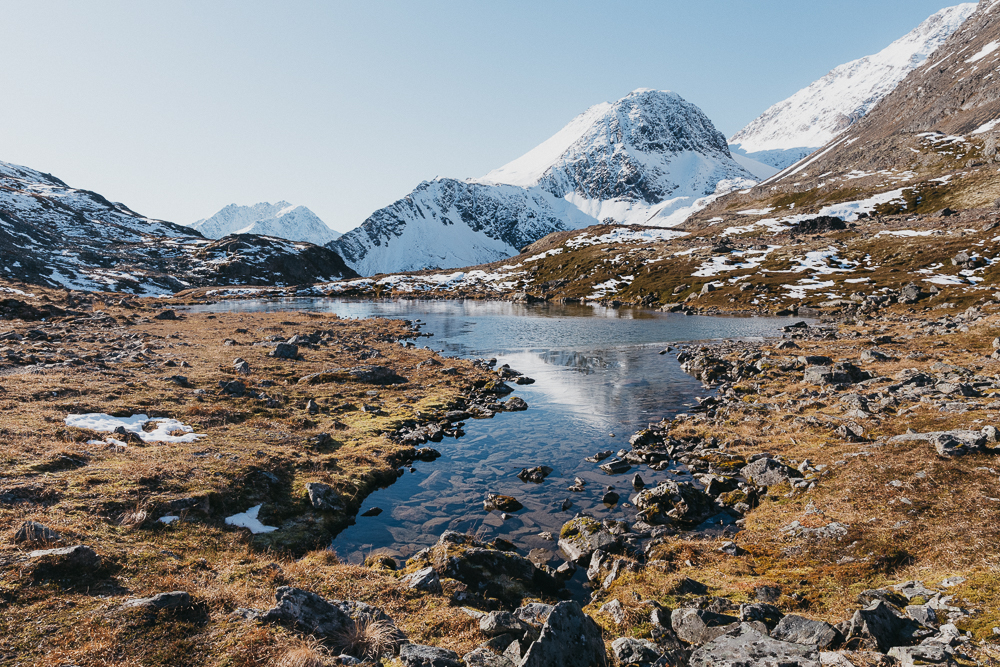 Along the way you'll find glaciers, waterfalls, mine ruins, alpine lakes, ponds, wildlife and wild berries
