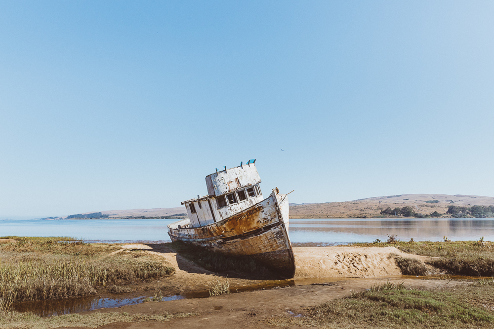 The shipwreck on Tomales Bay is a great reminder of a more simple times.