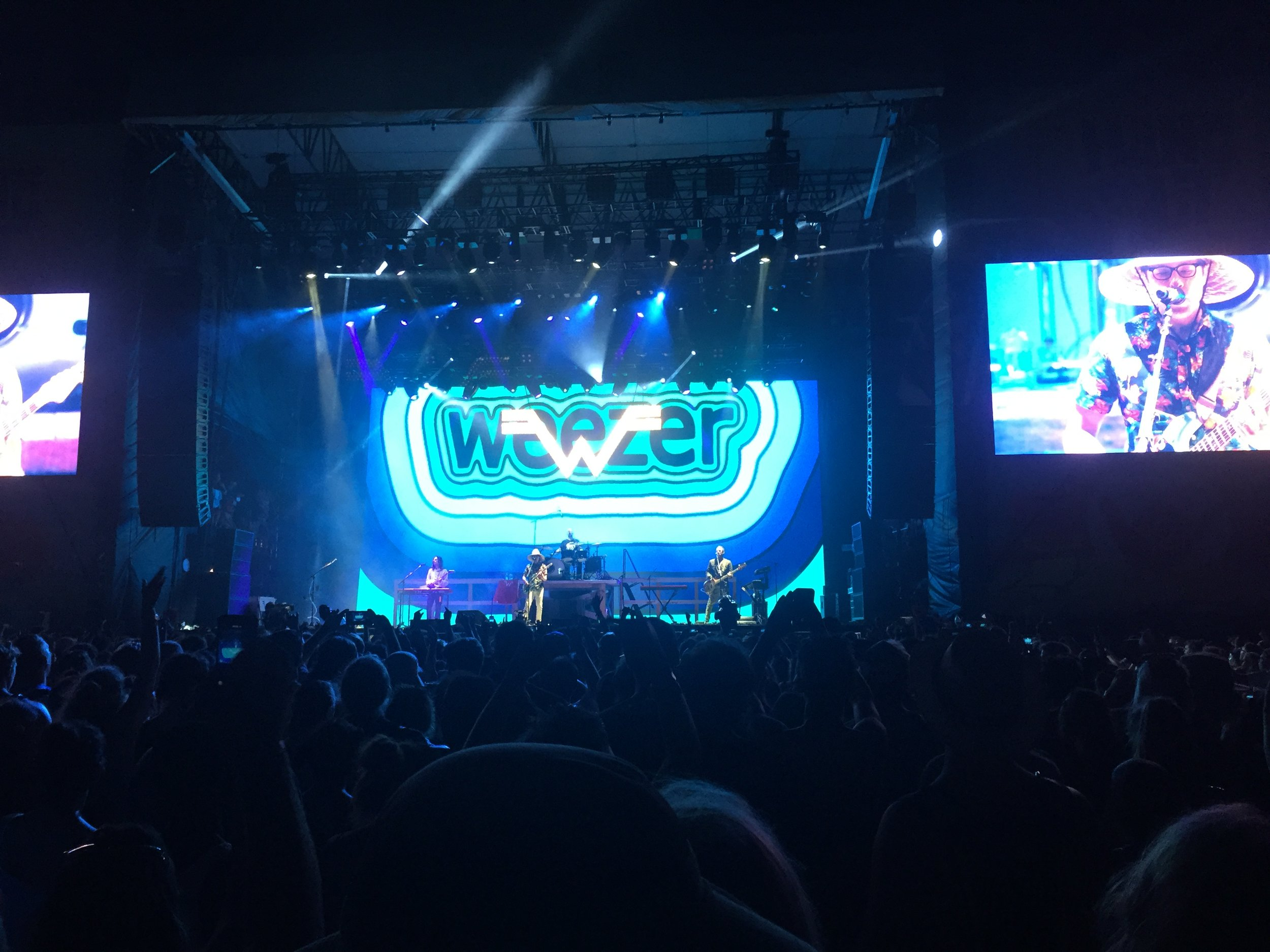 Weezer played an incedible show. They surprised the heck out of me with how good they were.