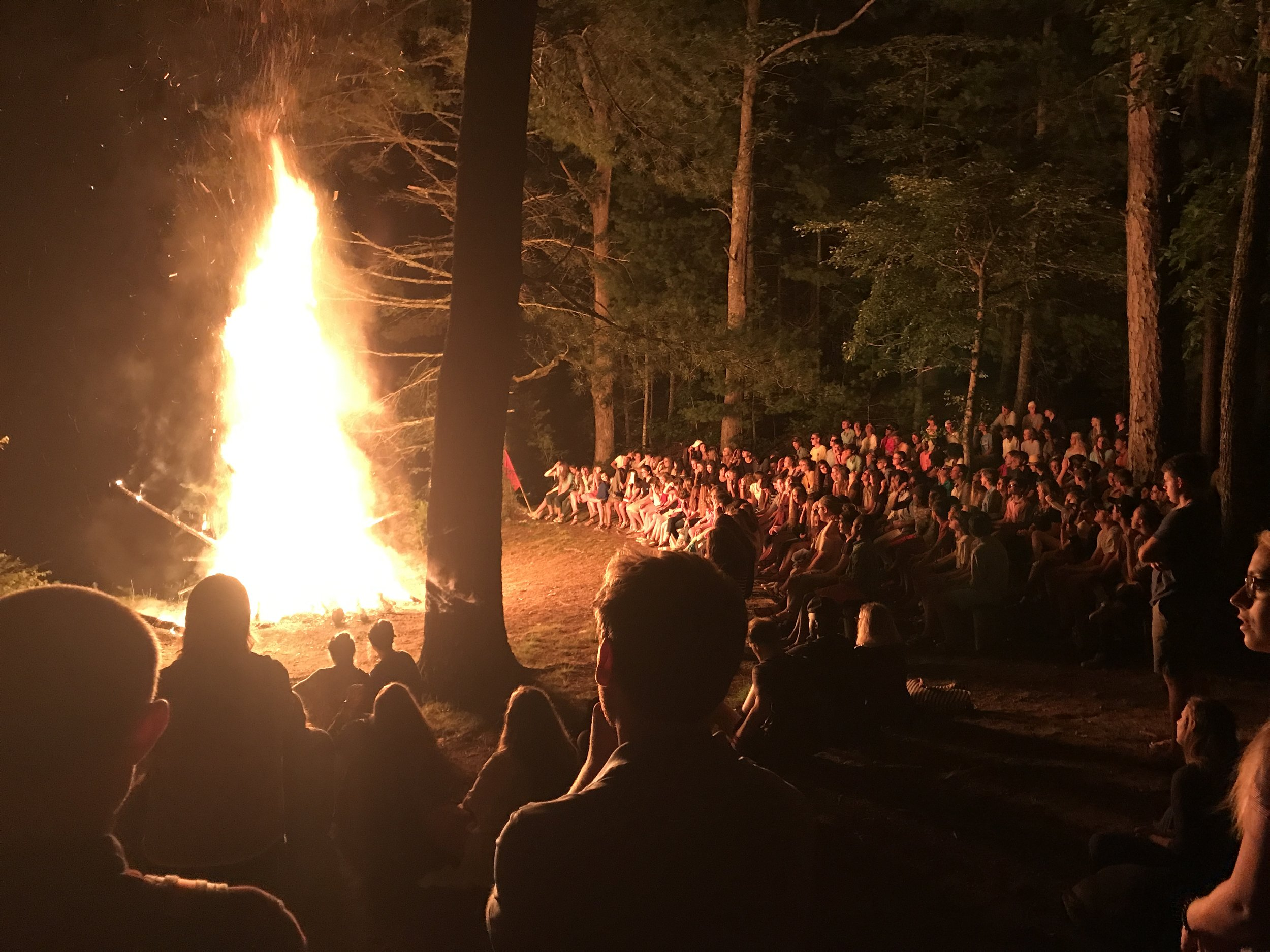 We respected this moment. We remained extremely quiet while walking to Campfire and while others told their story.