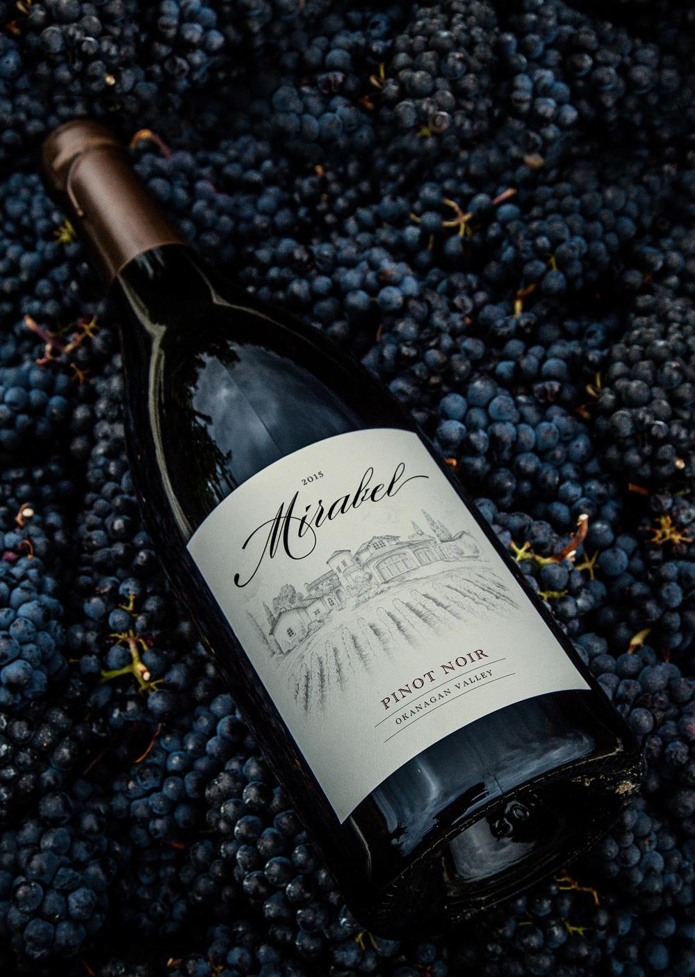 Mirabel Vineyards Branding - pinot noir magnum