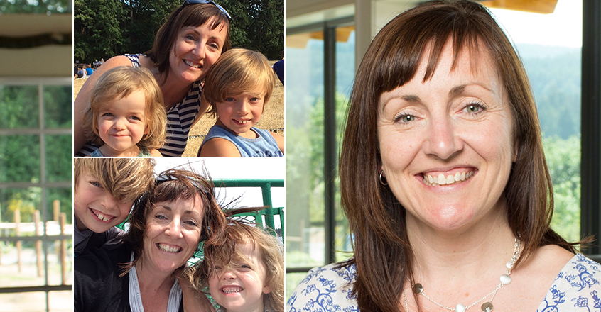 Jenny Garlini, Blue Grouse Estate Winery, and her family