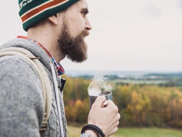 Cannabis customer smoking