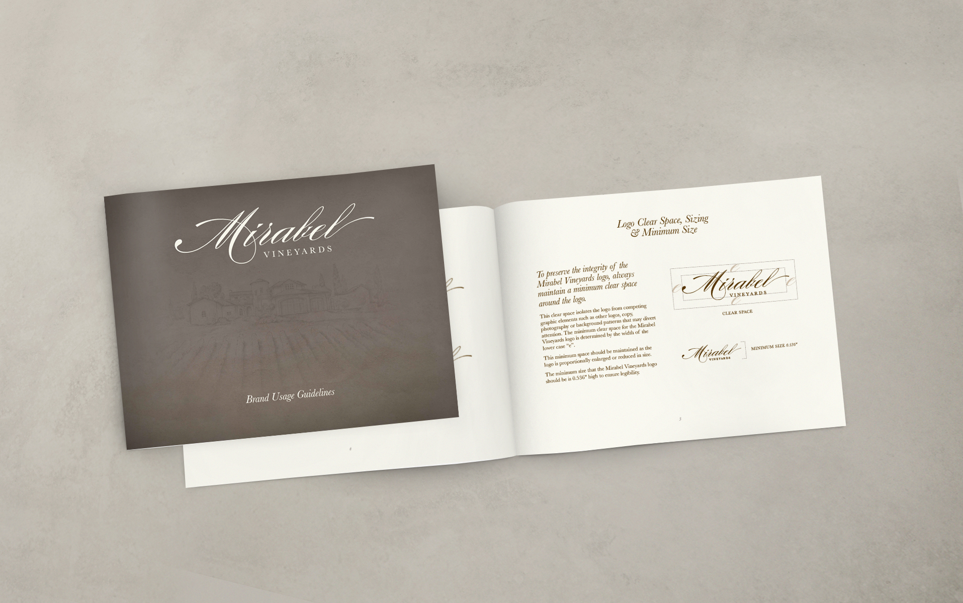 Brand Usage Guide for Mirabel Vineyards
