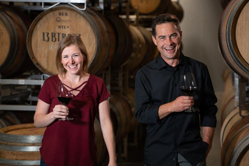 TIME Winery welcomes Graham Pierce as director of winemaker and Nadine Allander as winemaker. Credit: Chris Stenberg