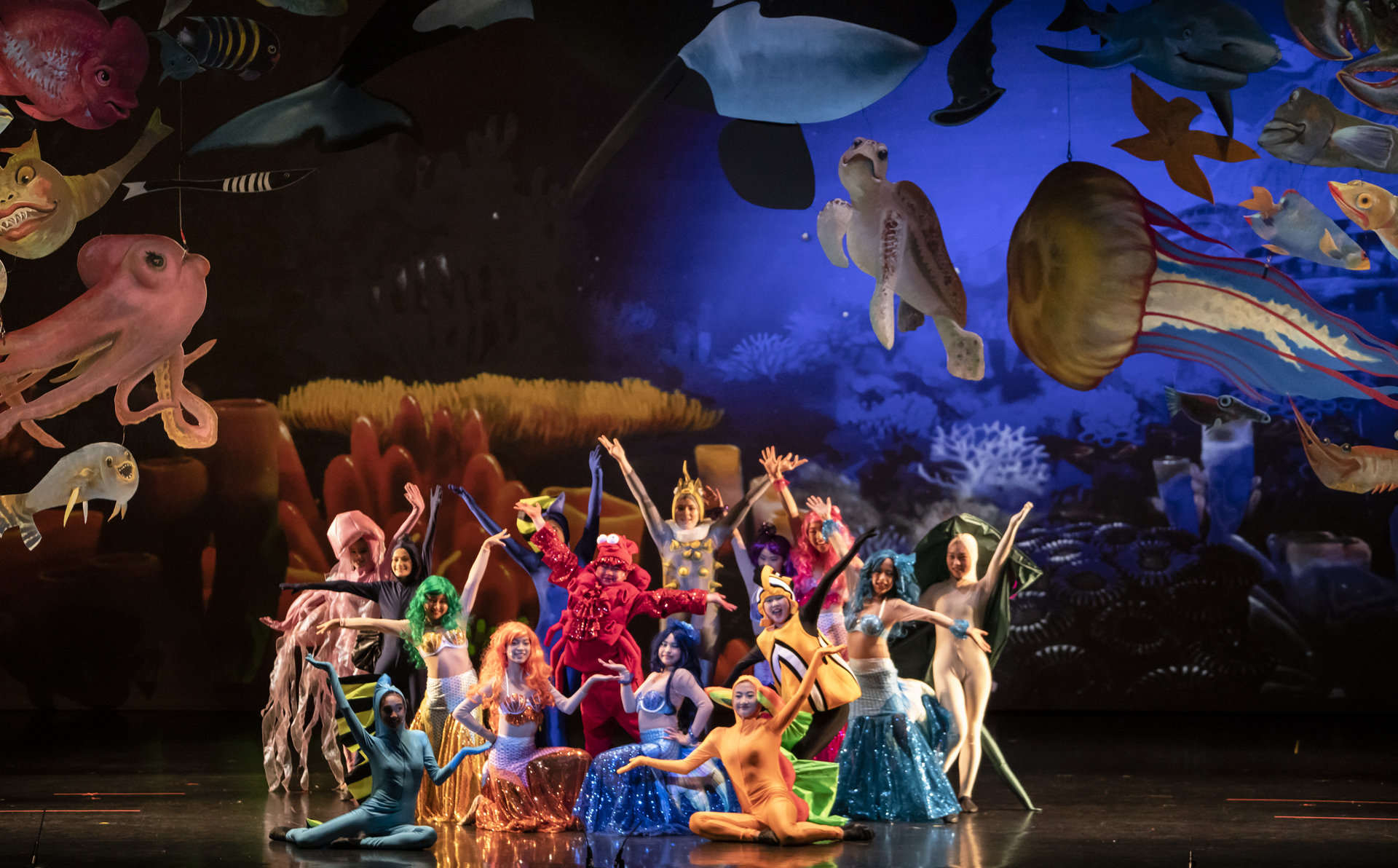 The Little Mermaid utilizes state of the art background technology and costumes.