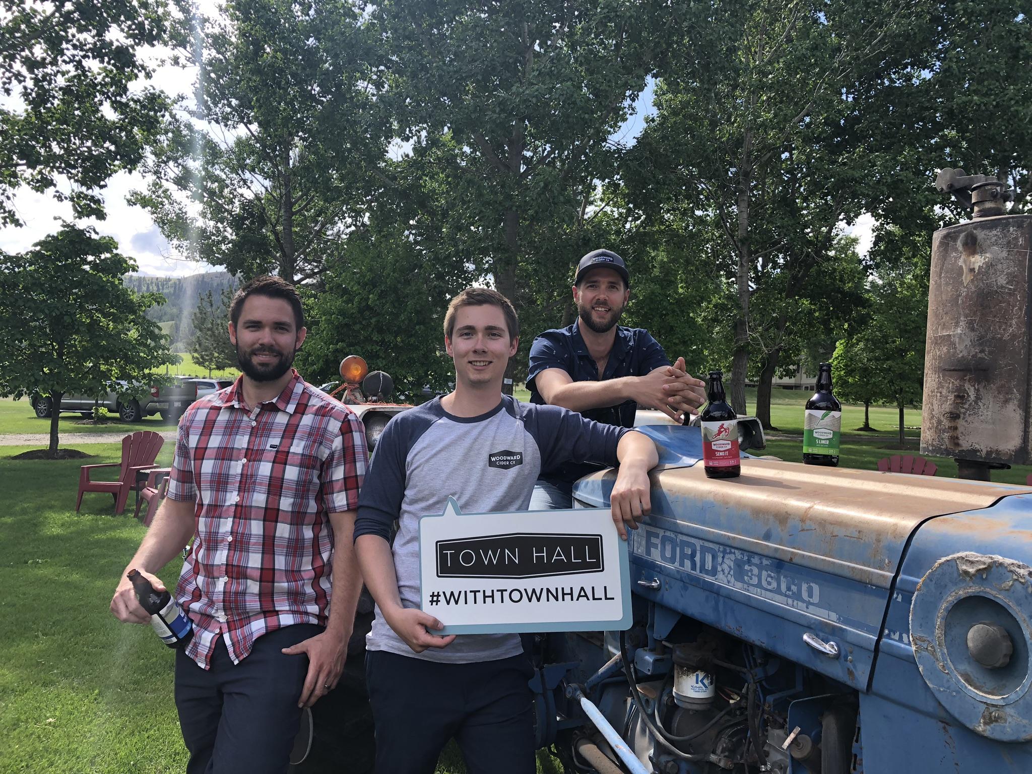 Ben, Tim and Adam Woodward launch Kamloops' first craft cider