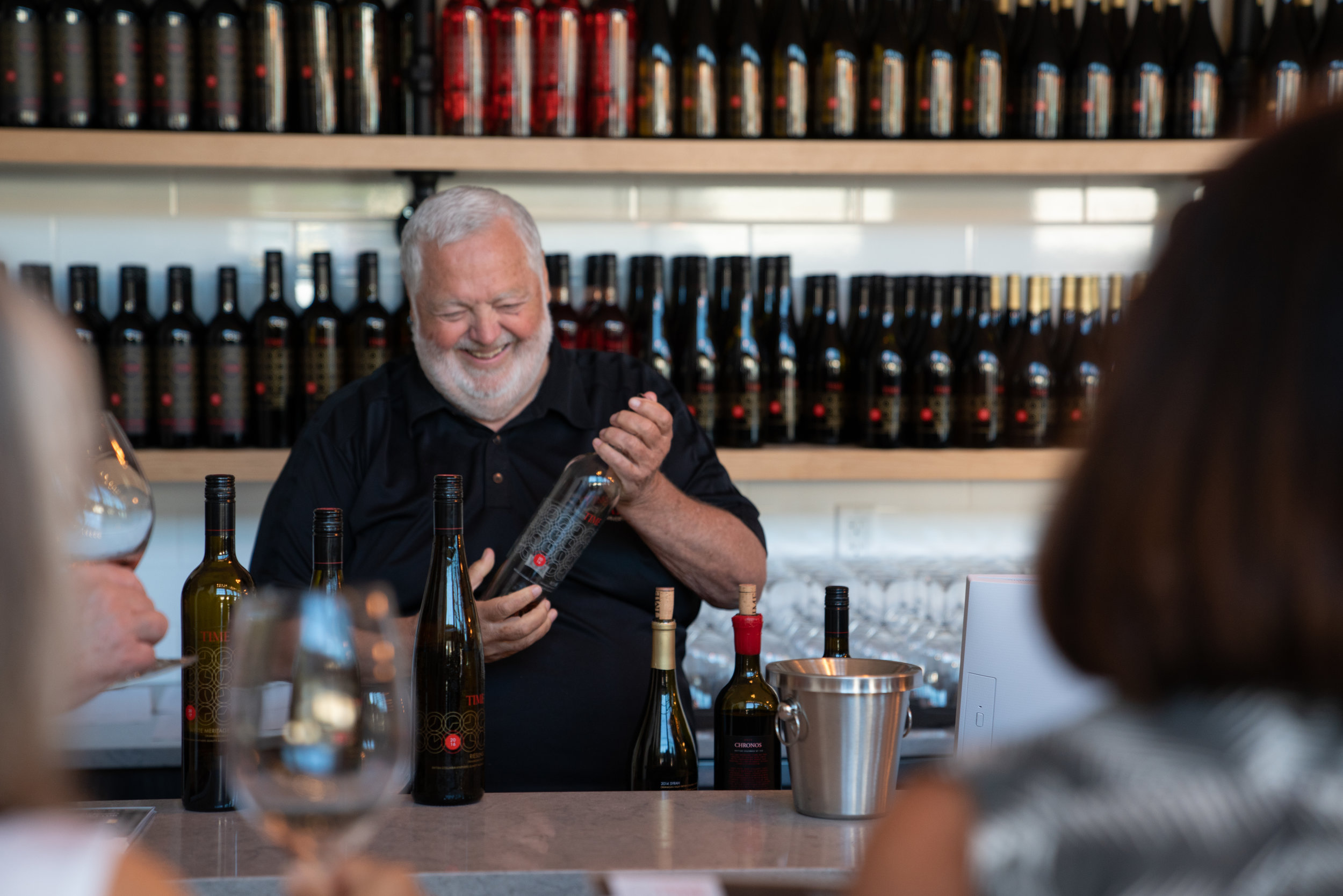 Harry McWatters in his element at TIME Winery - Chris Stenberg photo