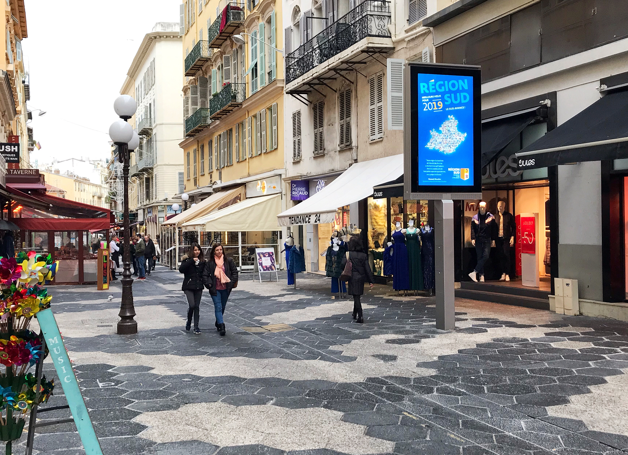 Digital signs are a central component of the smart city strategy in Nice, France.