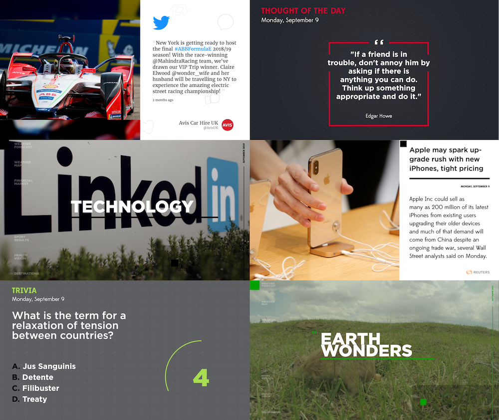 xogo studio, dynamic content, seenspire, infotainment, digital signa