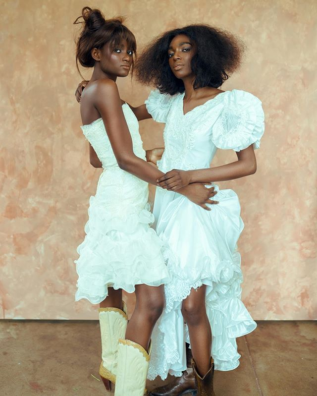 Couture cowgirls from Mali🇲🇱 Hey guys if we did a collaboration and you havent heard much from me, I'm slowly pushing out the edits, so expect me soon❤️❤️ . . Models: Ada and Awa Coker w/ @dragonflyagency  Hair and Makeup: @miguelofdallas Outfits from @lulabfashion @dachoche #obislens #dallasphotographer