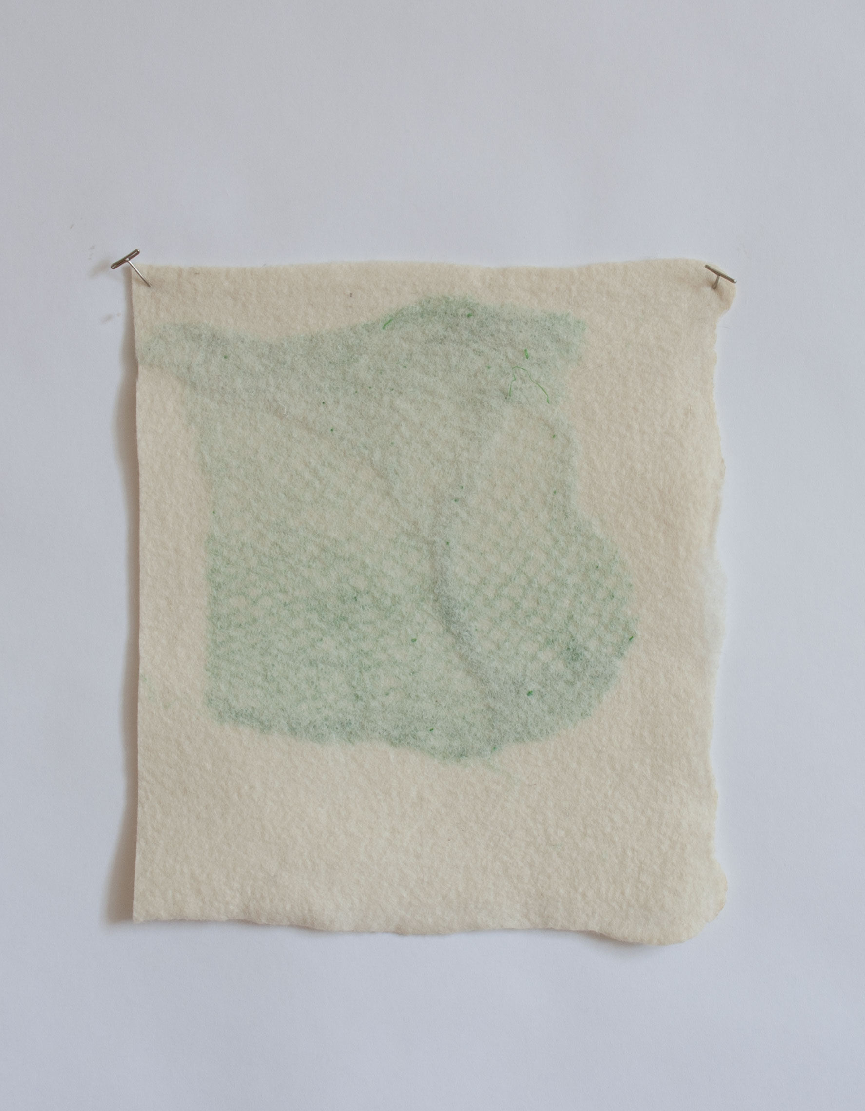 Untitled (some kind of archaeology)  Handfelted wool, plastic vegetable bag  2017