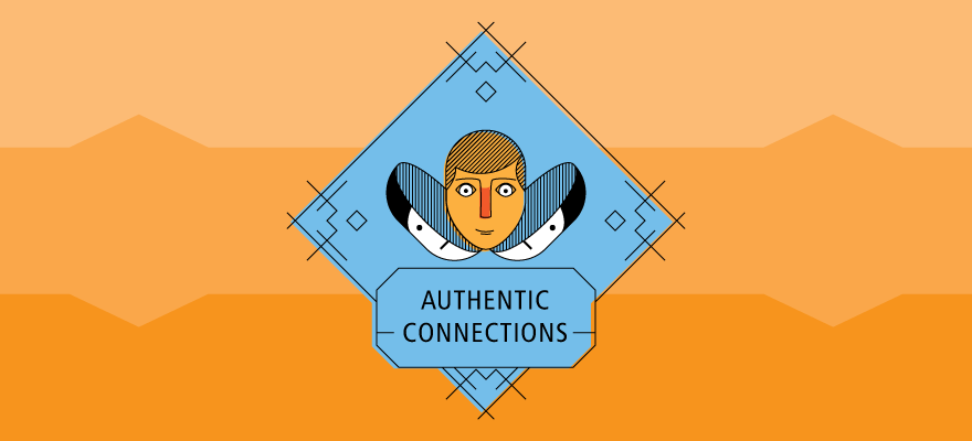 Illustration used to promote a series of talks about making authentic connections.