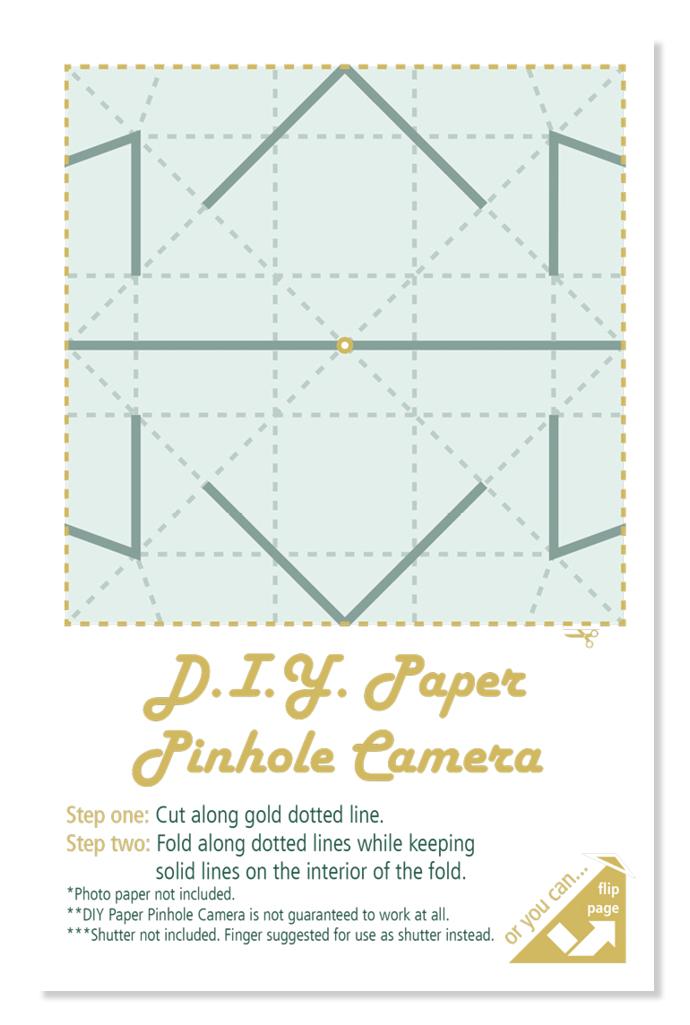 D.I.Y. Pinhole Camera Flyer
