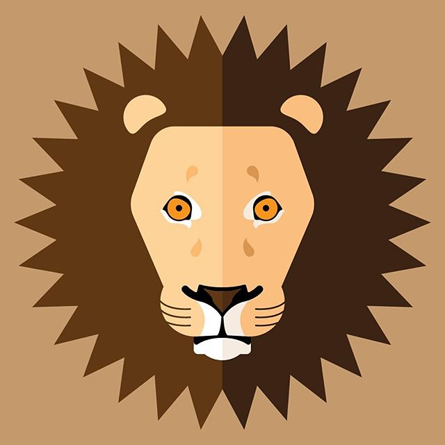 Just a Lion. I wish I had more explain than that, but I also don't feel like I really need to give more. 😜 #illustration #design #lion #graphicdesign
