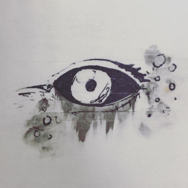 White eyes #postitnoteart