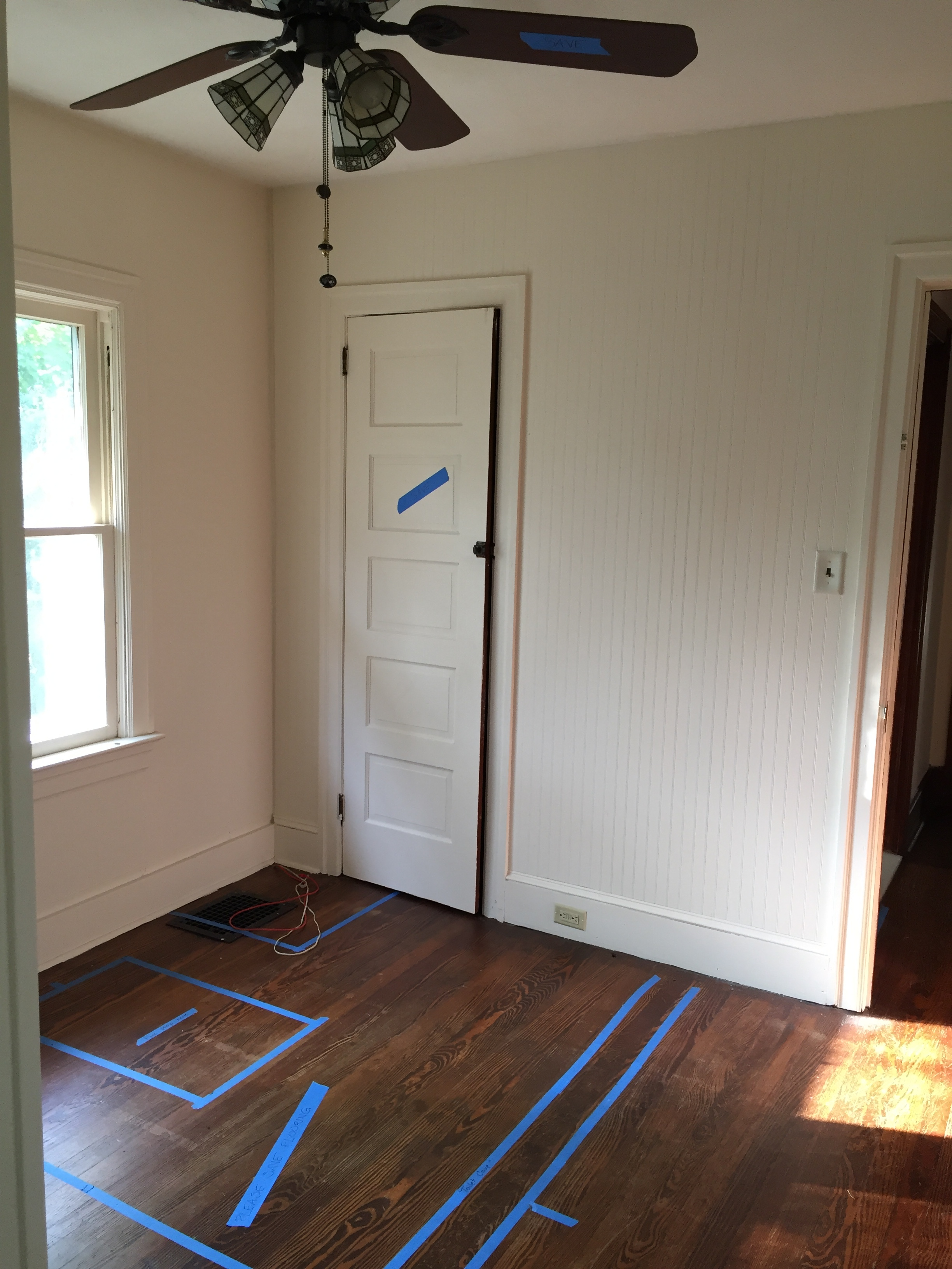 Before Photo: former master bedroom sitting room