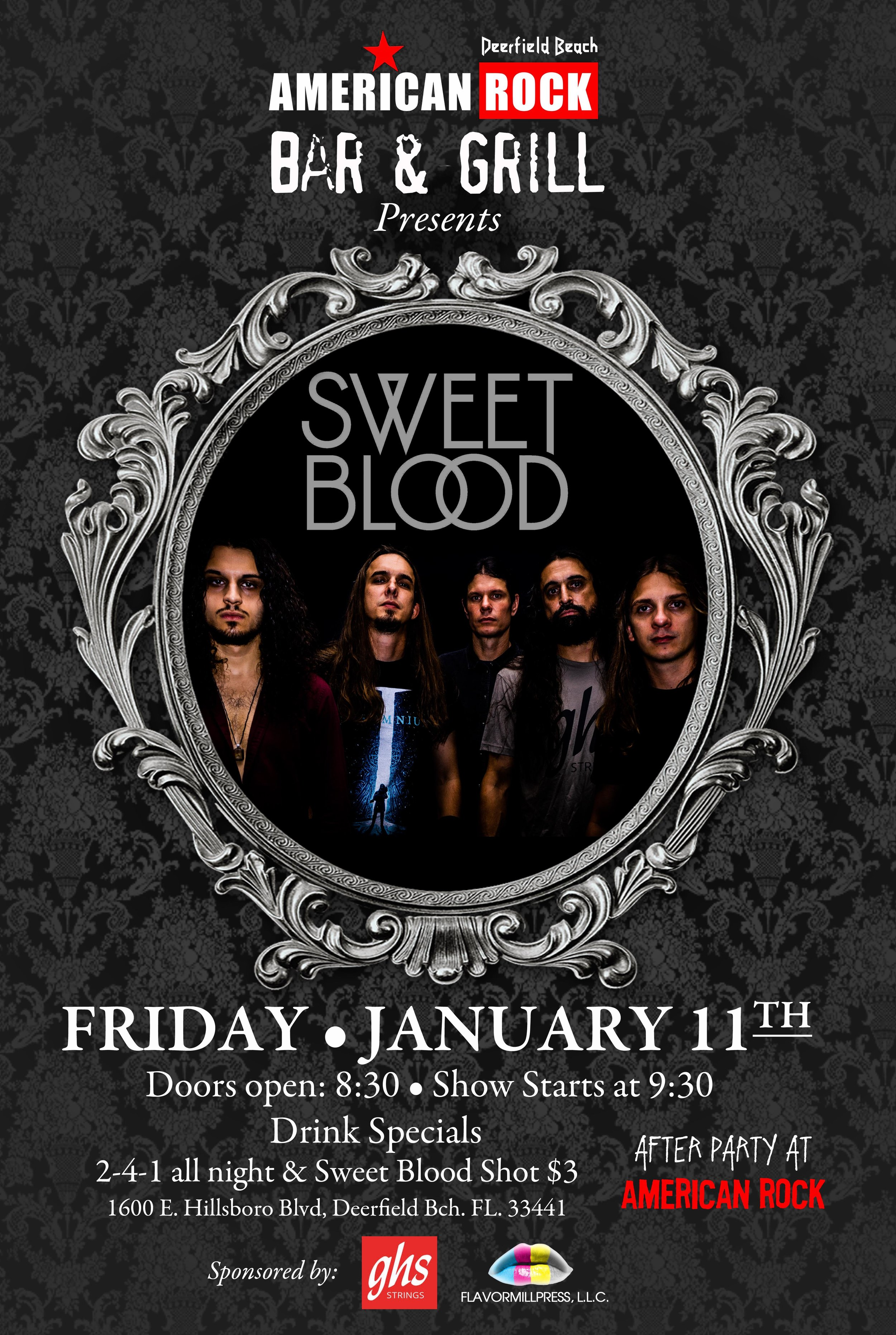 Sweet Blood Live - 01/11/19 - American Rock Bar & Grill1600 E. Hillsboro Blvd. Deerfield Beach, FL 33441