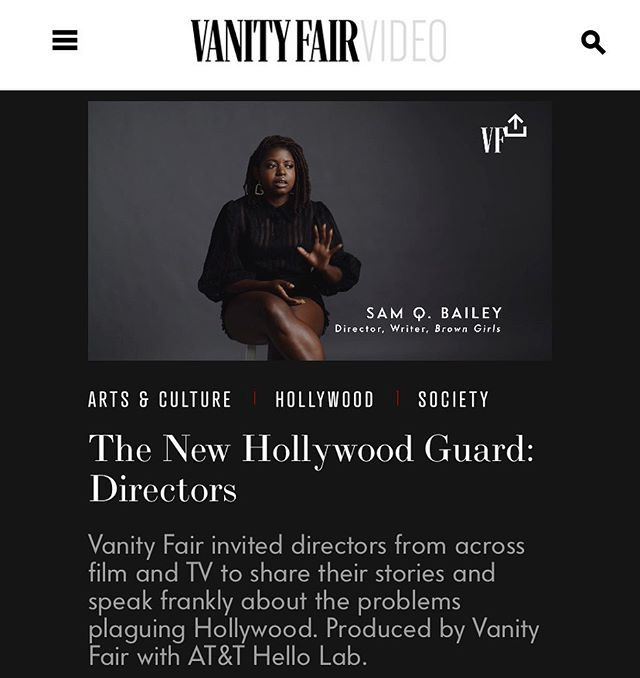 She's back! Sam Bailey talks directing, representation, and the future of film // pt. 2 of Vanity Fair's New Hollywood Guard series 🚀 Link in bio . . @samb.chi @vanityfair @att . . #vanityfair #condenast #hollywood #newhollywood #writer #director #directing #film #filmmaker #filmmaking #diversity #representation #poc #publicrelations #pr #coakleypr