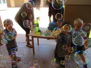 Preschool Play with Bubbles