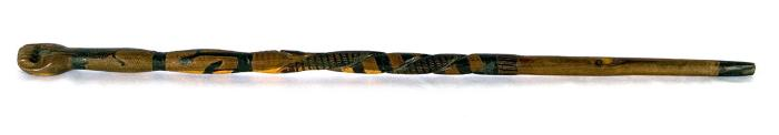 Untitled (Decorated walking stick)
