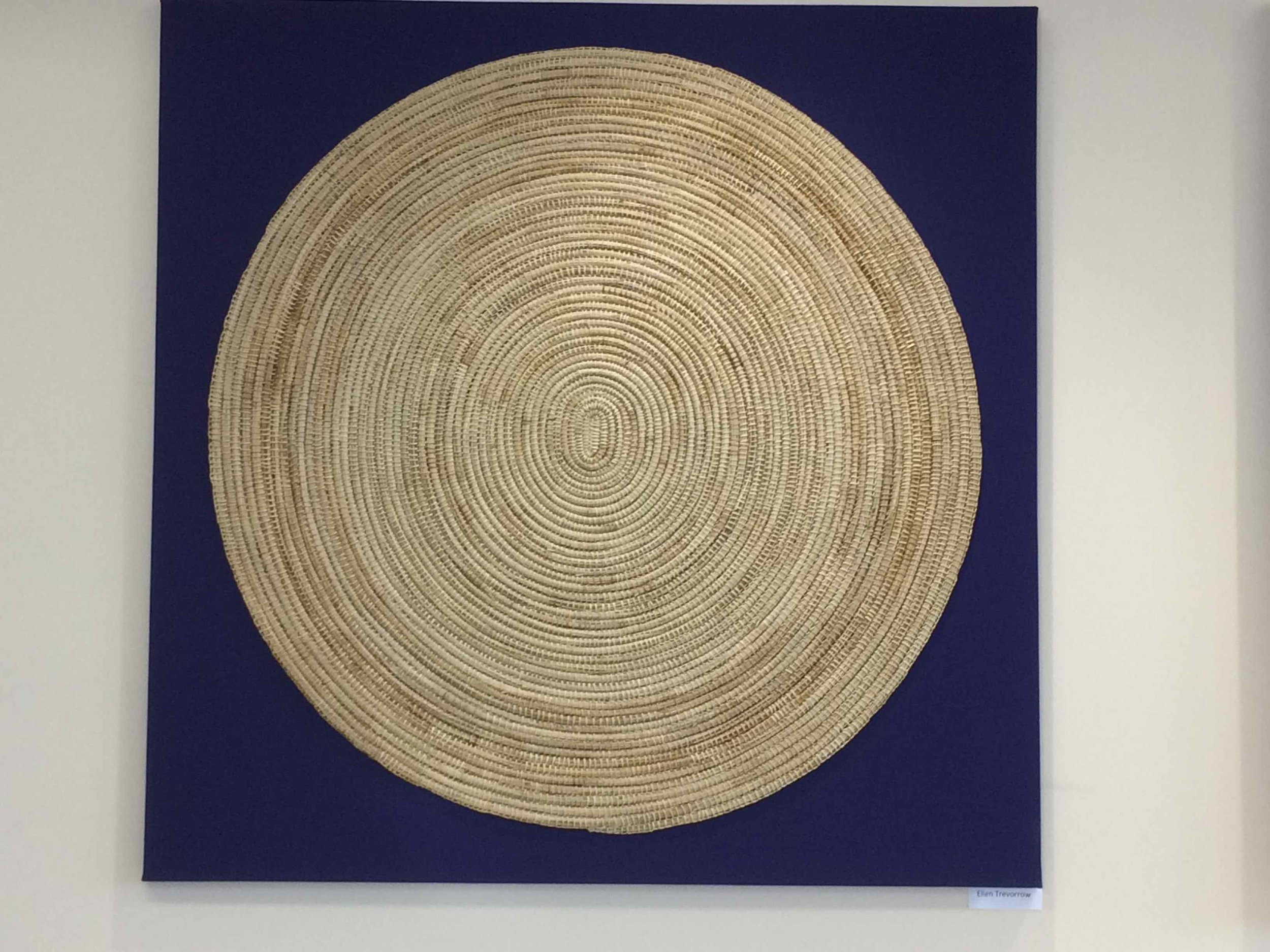 Everything Is Connected, 2017, Nagrrindjeri woven mat, by Ellen Trevorrow. Photo Carl Kuddell