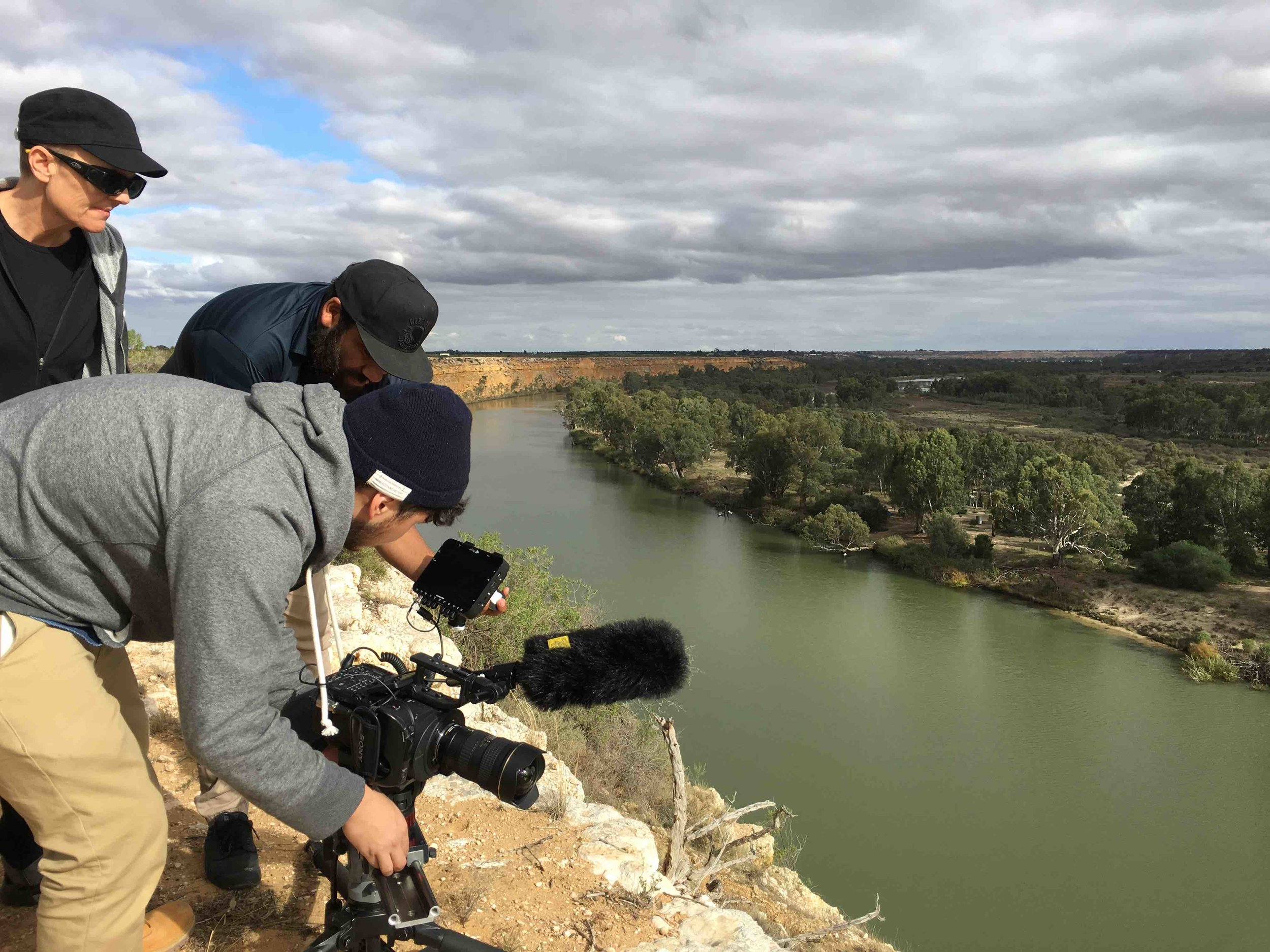 At the Murray River cliffs near Mannum. Photo Carl Kuddell, May 2016