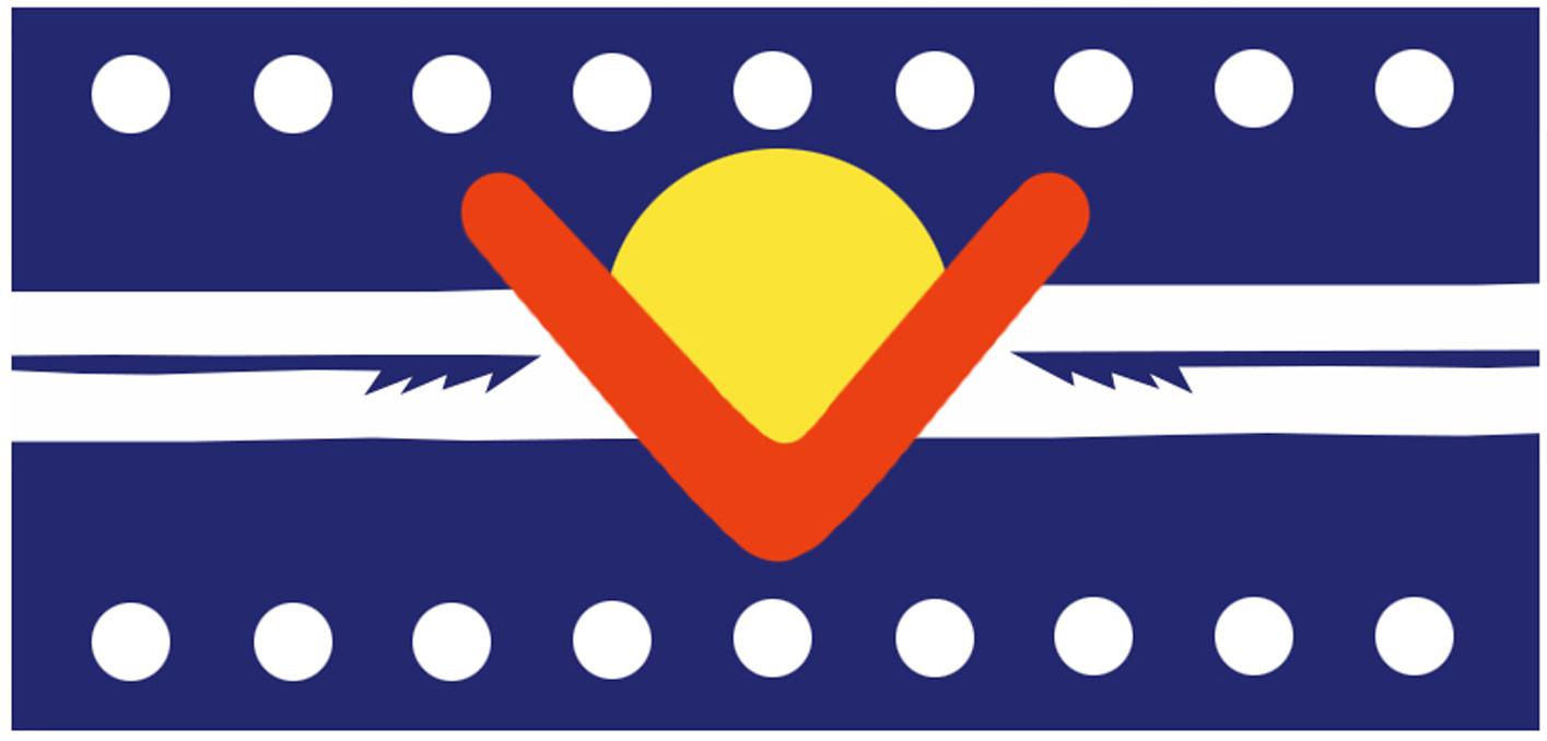 Ngarrindjeri Nation flag, designed by Matt Rigney, 1999