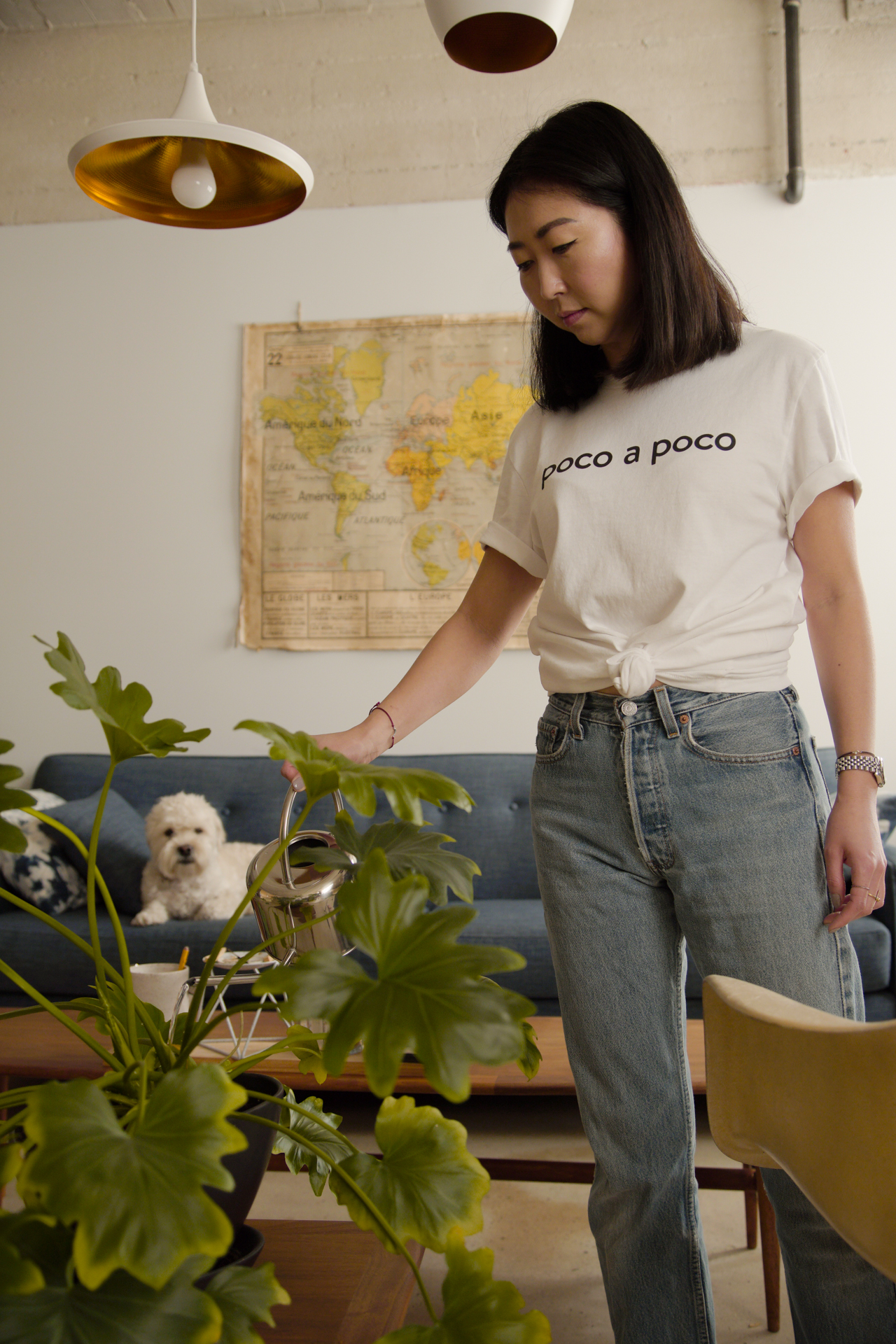 Poco a Poco - Ryze Project, an online destination offering curated, handmade accessories inspired by and originating from the art, fashion, and design worlds of Europe, is launching a T-shirt series that speaks to the European and SoCal lifestyle. The T-shirt design reads